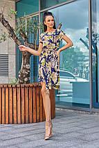 Женское летнее короткое платье с цветочным принтом (Белиссимо jd), фото 2