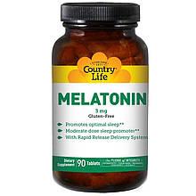 """Мелатонин Country Life """"Melatonin"""" 3 мг (90 таблеток)"""