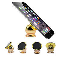 Тримач для телефону в машину, Mobile Bracket, колір – Золотистий, це зручний, магнітний тримач