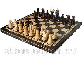 Шахматы из дерева 31 х 31 см. Королевские малые