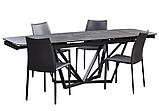 Розкладний обідній стіл HARBOR IRON GREY 160/240 сіре скло (безкоштовна доставка), фото 6
