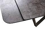 Розкладний обідній стіл HARBOR IRON GREY 160/240 сіре скло (безкоштовна доставка), фото 9