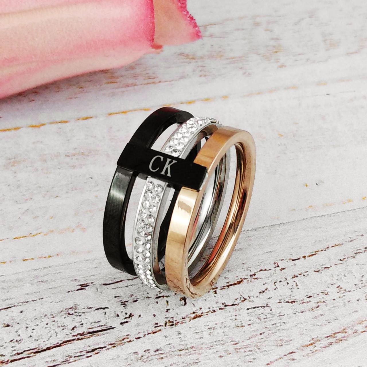 "Кольцо Xuping Jewelry размер 17 ""СК"". А/В 2896"