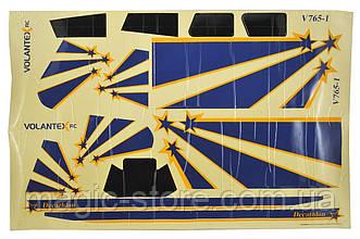 Комплект наклеек самолёта VolantexRC Decathlon 750мм (V-7651-Dec)