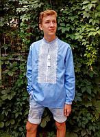 Заготівля чоловічої сорочки для вишивки нитками/бісером БС-141ч