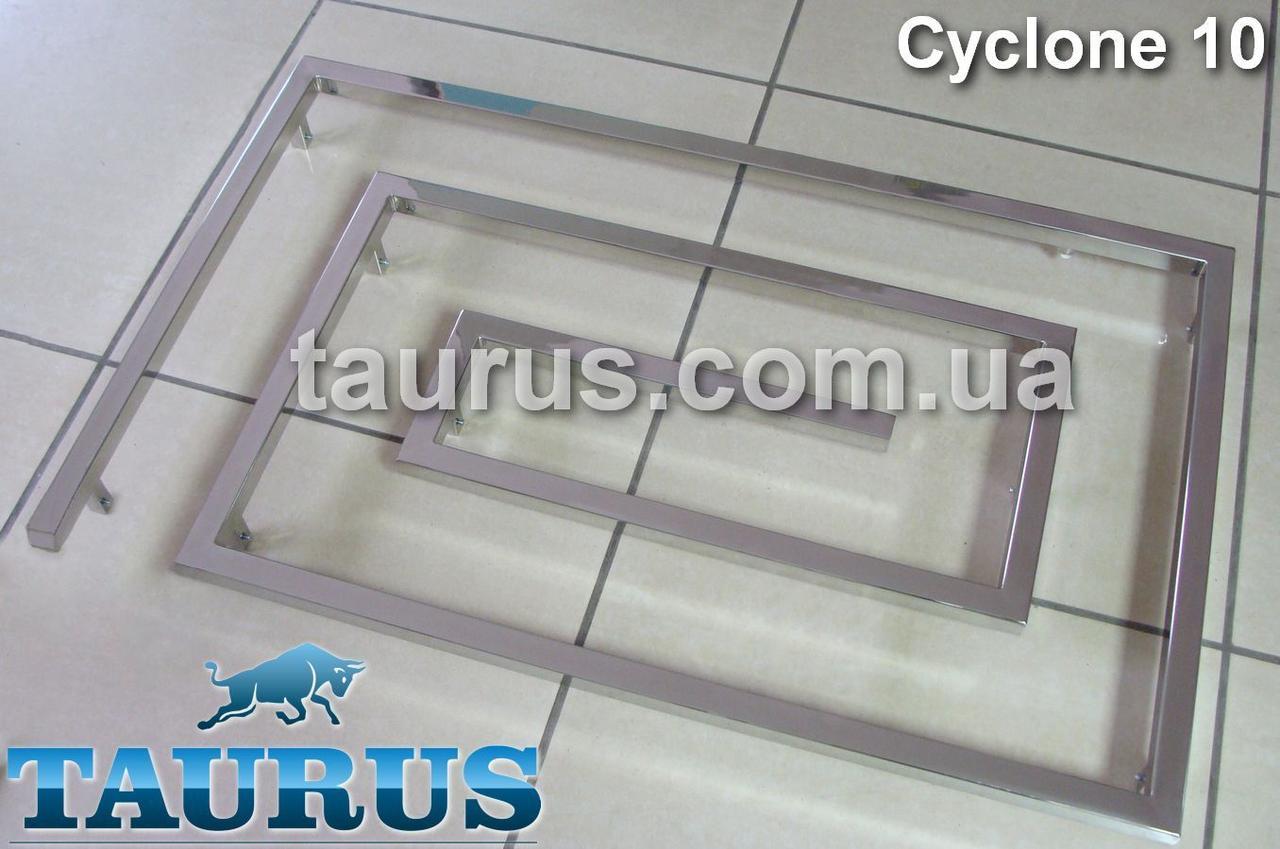 Большой дизайнерский полотенцесушитель Cyclone 10 / 670х1100 мм из нержавеющей стали на 10 сегментов