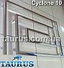 Большой дизайнерский полотенцесушитель Cyclone 10 / 670х1100 мм из нержавеющей стали на 10 сегментов, фото 2