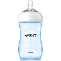 Avent бутылочка для кормления Natural 260 мл (1 шт) SCF695/17 BLUE -  (голубой), фото 1