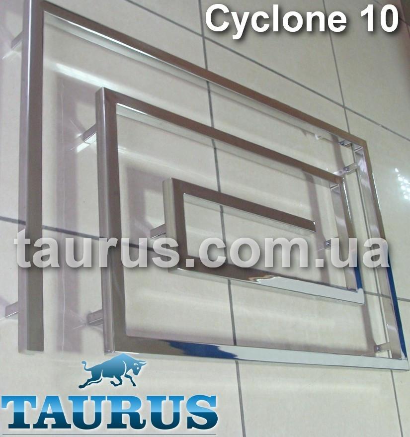 Огромный полотенцесушитель Cyclone 10/1200 из нержавеющей стали в современный дизайнерский санузел
