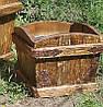 Деревянный садовый кашпо