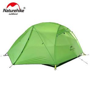Палатка двухместная Naturehike Star River 2 Silicone 20D (NH17T012-T) зеленая