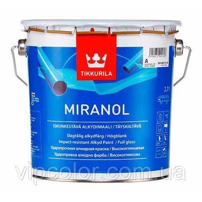 Tikkurila Miranol традиционная краска для дерева и металла А 2,7л