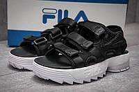 Женские сандали в стиле Fila Disruptor SD, черные 36 (23,2 см)