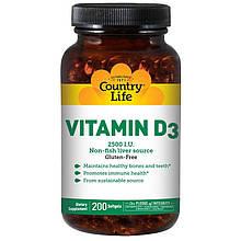 "Витамин D3 Country Life ""Vitamin D3"" 2500 МЕ (200 капсул)"
