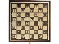 Деревянные шахматы 35 х 35 см. История Украины, фото 1