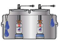 Pedrollo SAR 550 ― BCm 10/50 канализационная насосная станция для сильно загрязненной воды