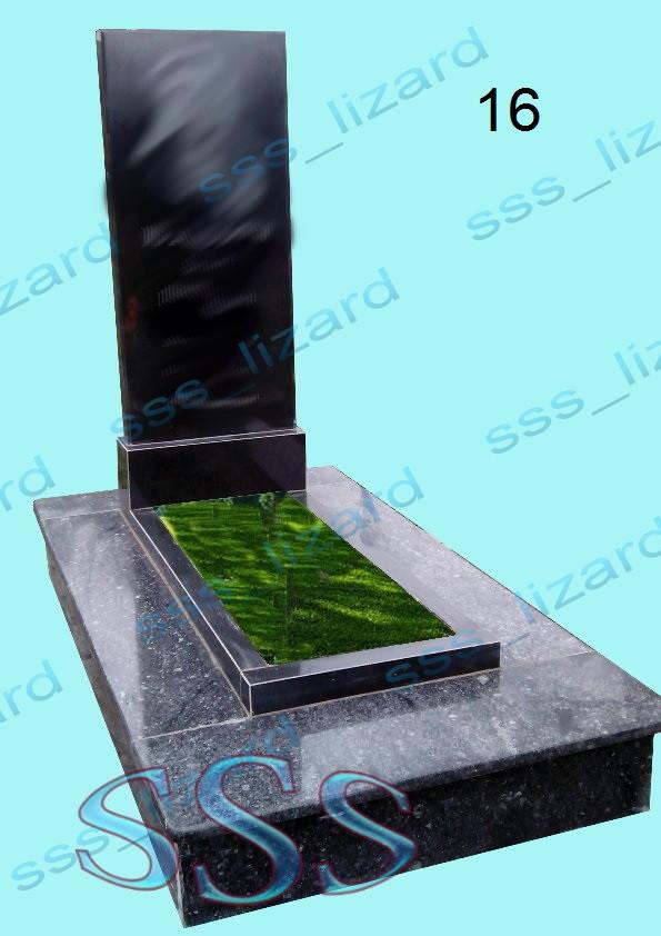 Одинарний пам'ятник з граніту арт.16