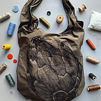 Дизайнерская эко сумка для покупок EcoLife Артишок