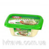 Сыр плавленный Gouda с зеленью Mlekovita , 150 гр