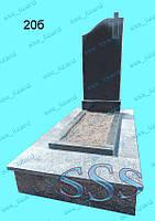 Одинарный памятник из гранита арт.20б