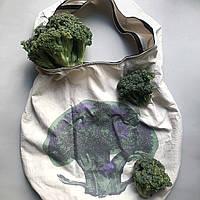 Дизайнерская эко сумка для покупок EcoLife Брокколи, фото 1