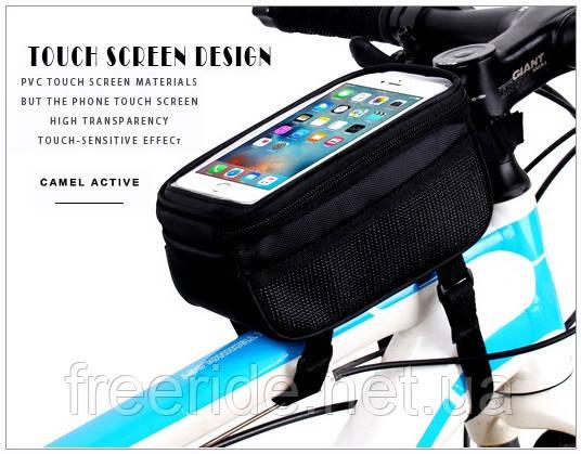 """Сумка велосипедная B-SOUL на раму под сенсорный телефон 5.7"""", фото 2"""