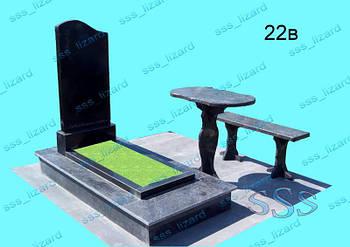 Одинарный памятник из гранита арт.22в