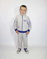 Спортивный демисезонный детский костюм для мальчика с капюшоном, рост 98-104-110-116