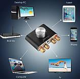 Підсилювач звуку NOBSOUND з Bluetooth 5.0 EDR HI-FI 2х50Вт AUX, TPA3116, фото 4