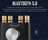 Усилитель звука NOBSOUND с Bluetooth 5.0 EDR HI-FI 2х50Вт  AUX, TPA3116, фото 3