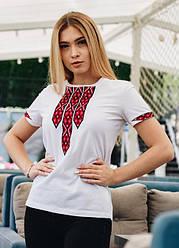 Молодёжная вышитая футболка орнамент «Фортуна» короткий рукав