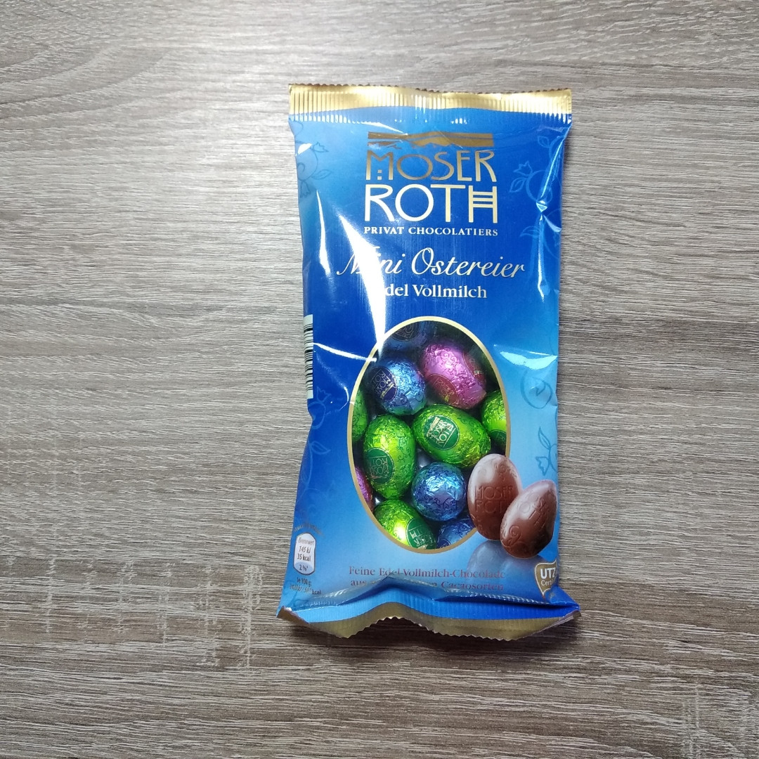 Шоколадні яйця Moser Roth 150 гр.
