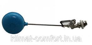 """Поплавковий Клапан 1/2"""" стандартний в комплекті з пластиковим шаром 90 мм, стрижень 175 мм"""