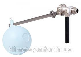 """Поплавковий Клапан 1"""" регульований, сідло з нержавіючої сталі в комплекті з кулею із нержавіючої сталі 160 мм"""