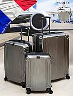 Надежный ! Комплект французских легких чемоданов из поликарбоната AIRTEX PARIS 7368 SILVER