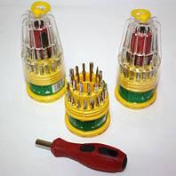 Набор отверток 31 в1 универсальная отвертка с магнитными насадками в колбе JACKLY JK-6036