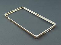 Бампер металл для Samsung Galaxy A7 A700 золотистый