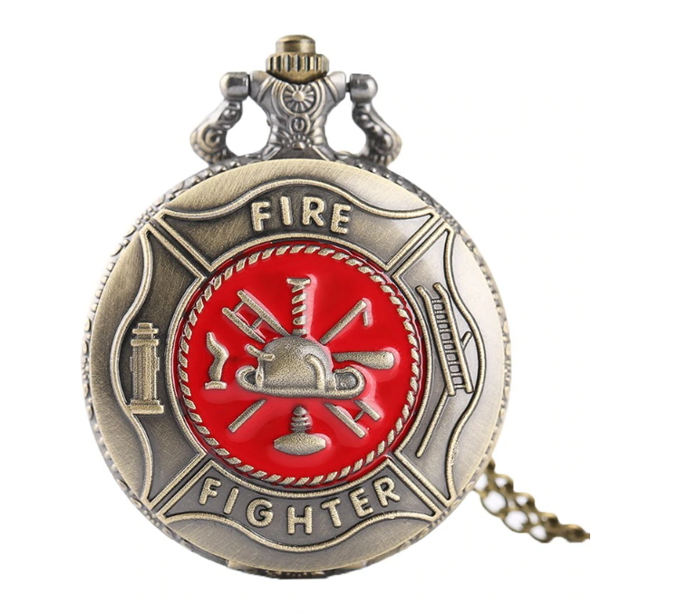 Мужские карманные часы на цепочке подарок пожарнику