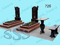 Одинарный памятник из гранита арт.72б