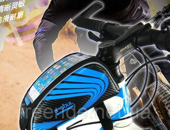 Сумка велосипедная B-SOUL на раму под смартфон 5.5''