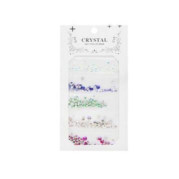 Кольорові камені для декору нігтів Crystal