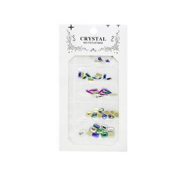 Камни цветные для декора ногтей Crystal