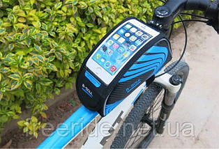 Сумка велосипедная B-SOUL на раму под смартфон 5.5'', фото 3
