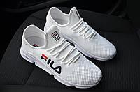 Кроссовки Fila мужские, белые, в стиле Фила, материал - сетка, подошва - пена, Код SP-1226.