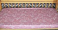 """Сатиновая простынь на резинке """"Слоники на розовом"""" (120х60)"""
