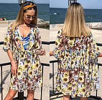 """Парео-платье женское с цветочным принтом, размер 42-46 (2цв) """"AFINA"""" купить недорого от прямого поставщика"""