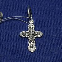 Серебряный крест с фианитами и распятием 3022-б, фото 1