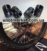 Колпачки гайки болты колесные ниппель шины диски клапаны воздуха автомобильные велосипедные мото (4 шт набор)