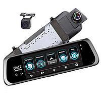 Автомобильный видеорегистратор Android 3G камера заднего вида HD 10 дюймов полный ips сенсорный экран