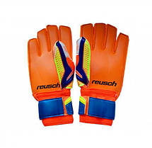 Перчатки Вратарские Reusch replica оранжево-салатовые [5][6][7], фото 3